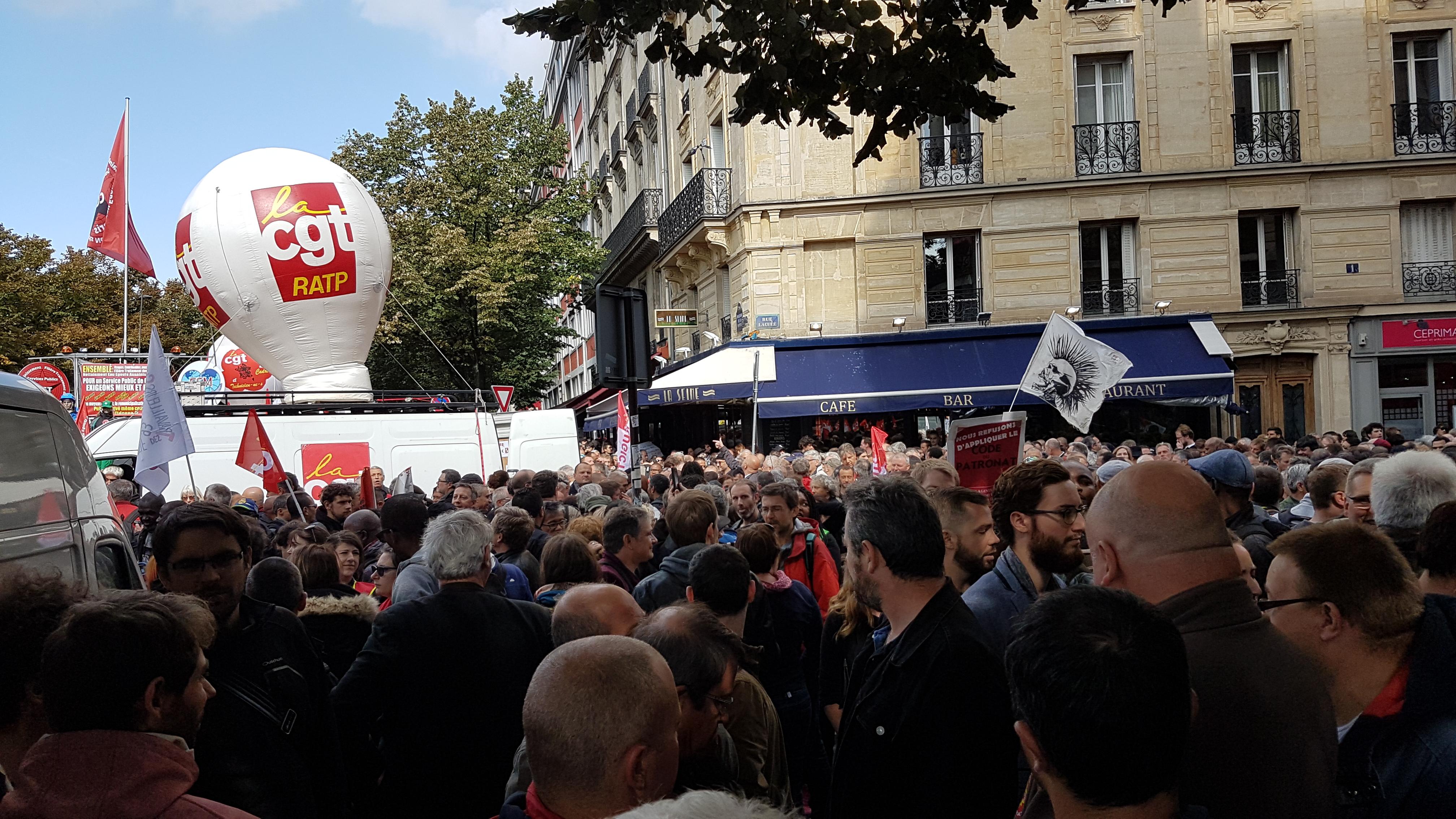 Manifestation CGT-RATP